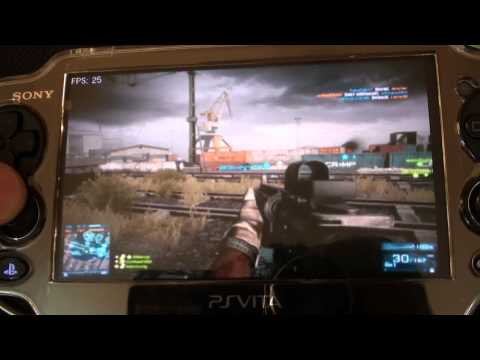 PSVITA Remote Desktop Battlefield 3 Online Multiplayer Gameplay.
