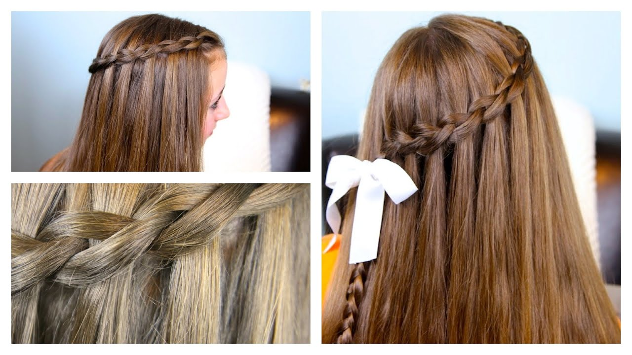 The Dutch Waterfall Braid Cute Girls Hairstyles Youtube