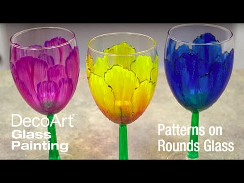 DecoArt® Tips & Tricks: Painting Patterns on Round Glass