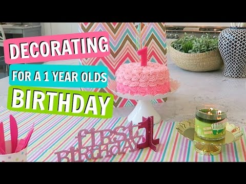 Decorating For Everlys 1 Year Old Birthday Party