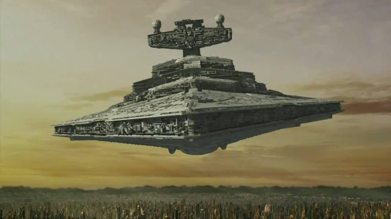 Star Destroyer Crashes on Tatooine Crashes Star Destroyer