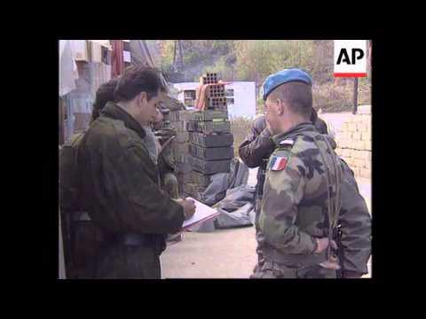 BOSNIA: GOVERNMENT AID CONVOY ARRIVES IN GORAZDE