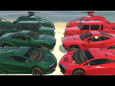VERDES Vs ROJOS - Gameplay GTA 5 Online Funny Moments (GTA V PC)