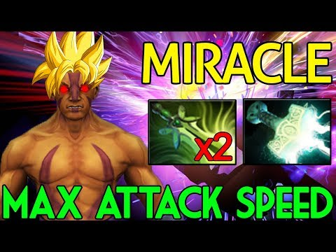 Miracle- Dota 2 [Anti Mage] Max Attack Speed - Saiyan Mode
