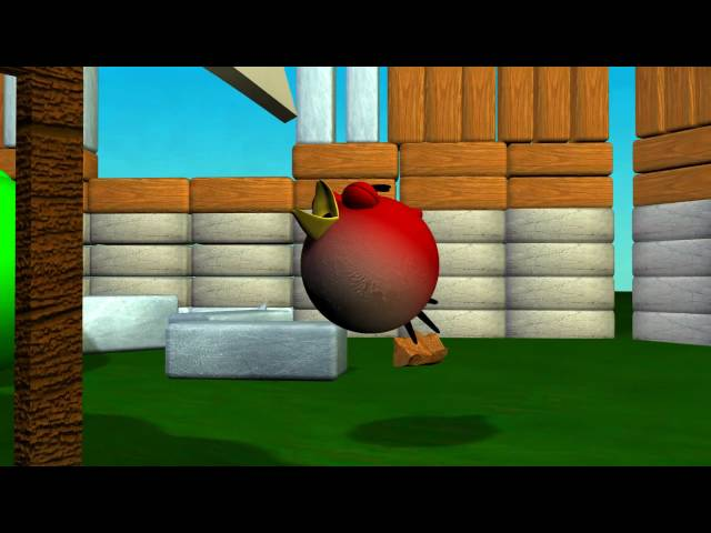Angry Birds - Hungry, Hungry Piggies - 3D Animation