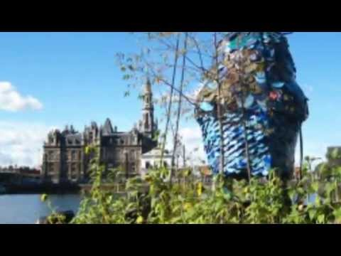 Time Circus Builds a Floating Vegetable Garden on an Abandoned Ship Crane in Belgium