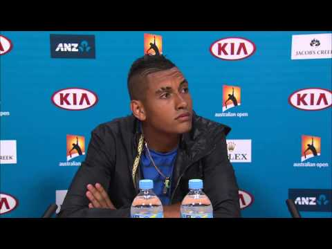 Nick Kyrgios press conference - Australian Open 2015