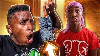 I Broke my Lil Brother IPHONE XR & Reads his FLIRTY MESSAGES!