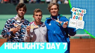 Tennis medals have been decided & Rugby is underway    YOG 2018 Day 7   Top Moments
