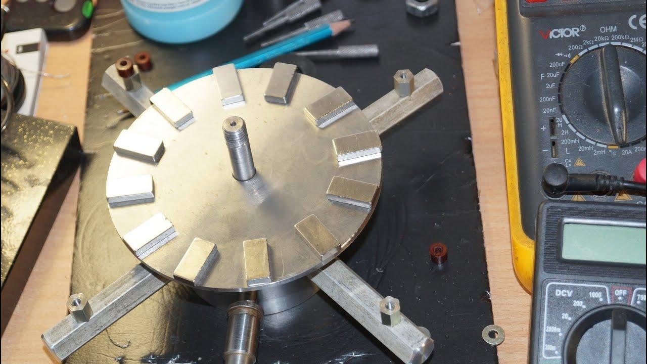 Сделать генератор на неодимовых магнитах своими руками