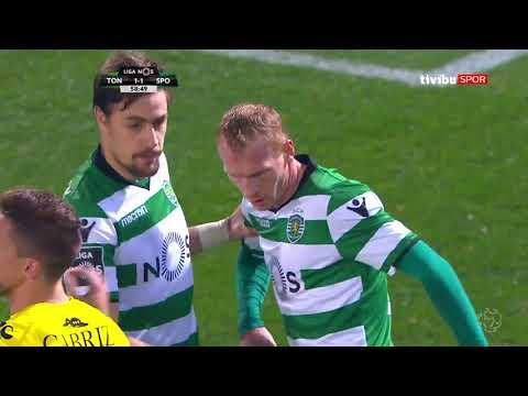 Portekiz Ligi 23 hafta I Tondela 1-2 Sporting Maç özeti