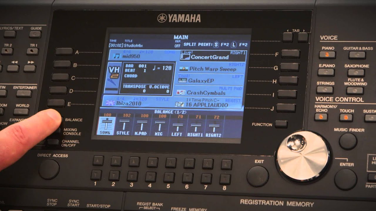 Psr s950 psr s750 produktvideo youtube for Yamaha credit application