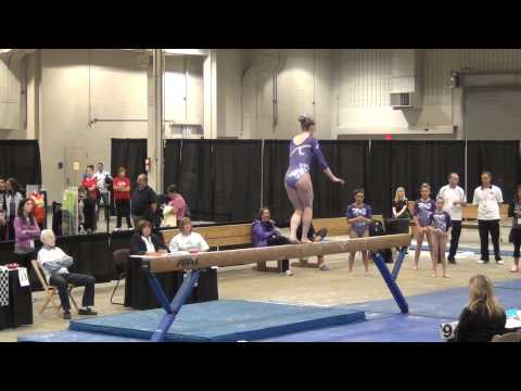 Eileen Malecki - Beam, 8th Place, Region 5 Championships 2012