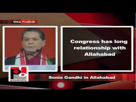 Sonia Gandhi in Allahabad, Uttar Pradesh, 8th February 2012, Part-9