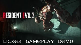 Resident Evil 2 Remake - Claire Redfield New Licker Gameplay Demo/New Rooms! [No Commentary]