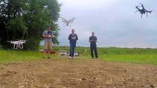 Phantom 3, Phantom 4, And Solo Flying Together