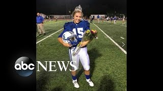 Homecoming queen makes game-winning kick during football game