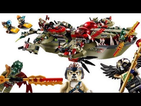 Lego Legends Of Chima Craggers Command Ship Review 70006