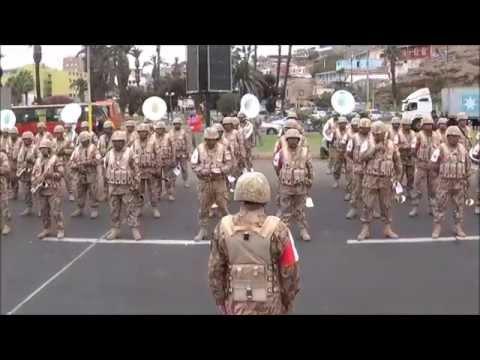 Contrapunto Bandas Militares [Chile - Perú] Arica 2014