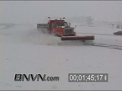 Various winter weather snow clean up footage