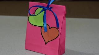 How Make a  DIY Paper gift Bag For Kids - Easy Craft