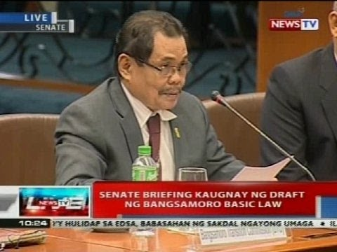Senate briefing kaugnay ng draft ng Bangsamoro Basic Law