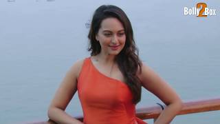 Sonakshi Sinha Walks the Ramp in an Orange Cocktail Dress| Bolly2Box