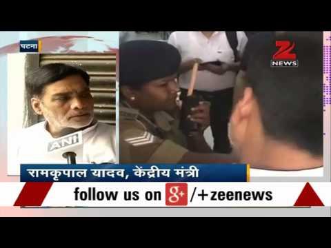 Woman guard denies access to Ramkripal Yadav at Patna airport