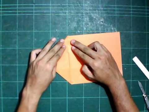 พับถุงกระดาษด้วยกระดาษสี A4