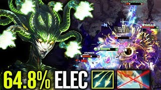 WTF!? 64,8% Electric Shot - 7.21 Hard Carry Meta Mjollnir MEDUSA Dota 2
