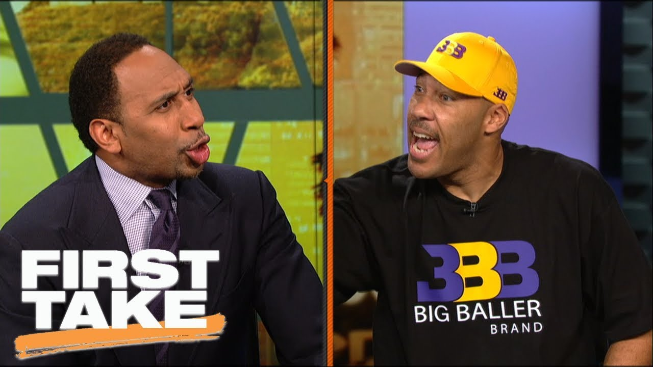 c917d1de4dd5 LaVar Ball and Stephen A. argue over BBB pricing and LeBron joining Lakers