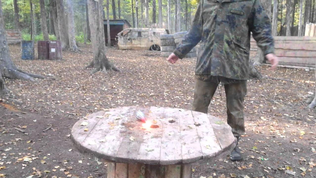 Самодельная дымовая шашка для пейнтбола своими руками