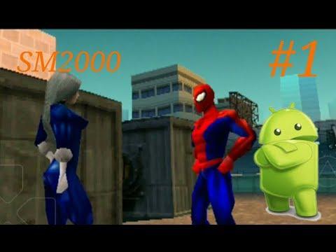 Прохождение Spider man 2000 на андроид с эмулятором. Эпизод #1
