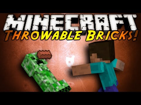 Minecraft Mod Showcase : THROWABLE BRICKS!
