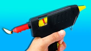 24 CRAZY GLUE GUN HACKS