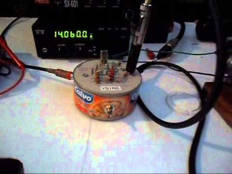 Tuna Tin II QRP transmitter powered by a steam engine - STWWW 2012 by RS