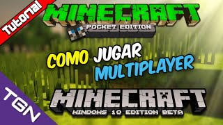 Como Jugar Multiplayer entre Minecraft Pocket Edition 0.13.1 y Minecraft Windows 10 Edition