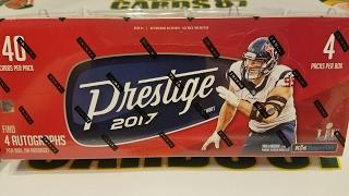 2017 Panini Prestige Football Hobby Box. 4 Autos per Box
