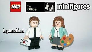 Custom LEGO The Office Minifigures: Jim Halpert & Pam Beesly