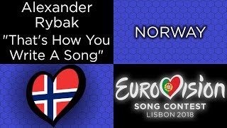 "TessHex Reviews: ""That's How You Write A Song"" by Alexander Rybak (Norway)"