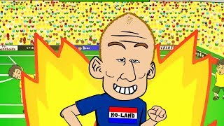 AUSTRALIA v HOLLAND 2-3 by 442oons (World Cup 2014 Cartoon Robben Goal 18.6.14)