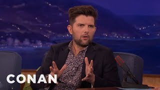 Adam Scott, Chris Pratt, & Nick Offerman Share Poop Photos  - CONAN on TBS