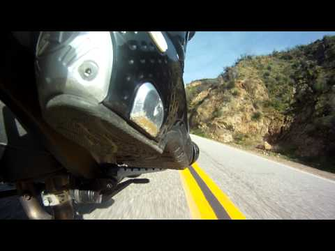 Alpinestar View on a Ducati Monster 796 uphill Glendora Mountain Road