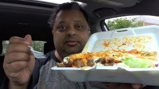 Halal Food Mukbang | Eating Lamb Over Rice & Salad