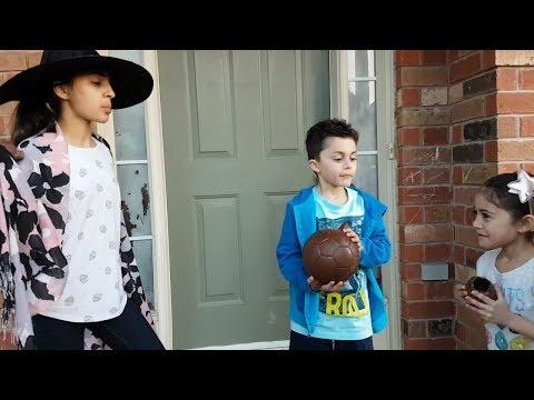 Chocolate Soccer Ball vs. Chocolate Shoe challenge! HZHtube Kids Fun