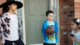 Hadil doing a magic trick with shoe and soccer ball! HZHtube kids fun