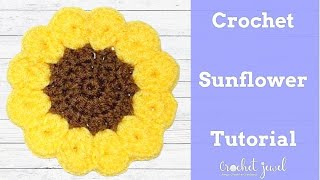 How to Crochet a Sunflower Coaster