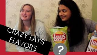 WE TRY: Crazy Lays Chip Flavors!