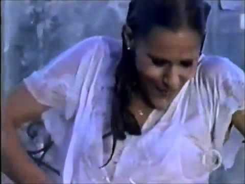 Girl get wet in the rain