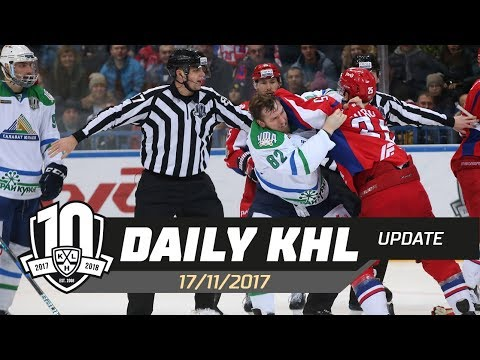 Daily KHL Update - November 17th, 2017 (English)